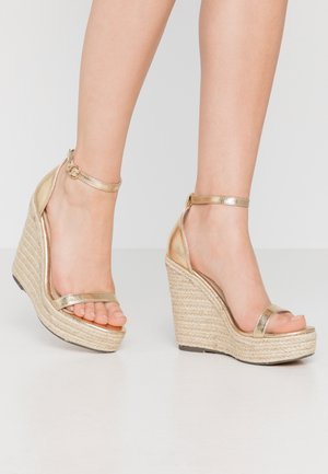 PARK - High heeled sandals - gold