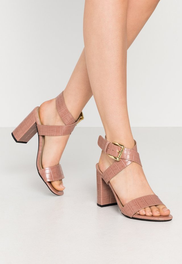 ADRIANNA - High heeled sandals - blush
