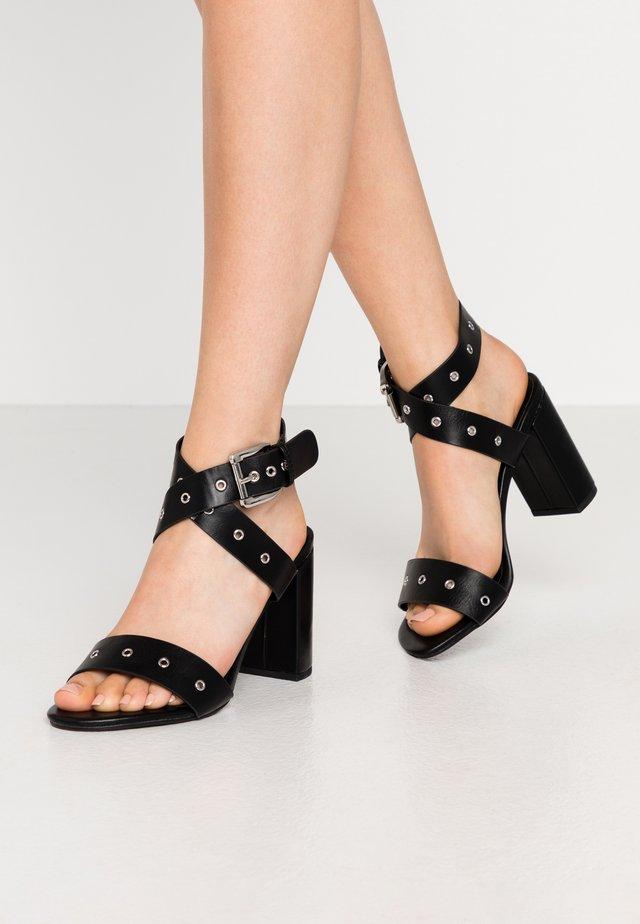 ADRIANNA - High heeled sandals - black