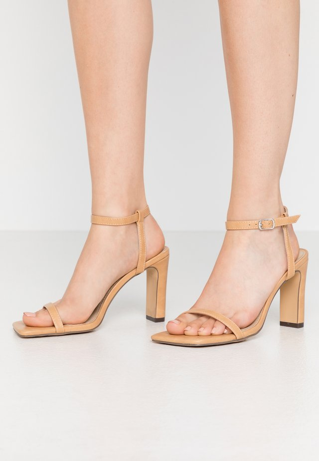 MEGAN - High heeled sandals - nude