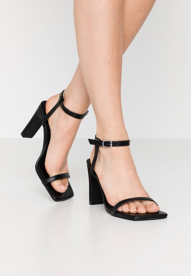 MEGAN - High heeled sandals - black