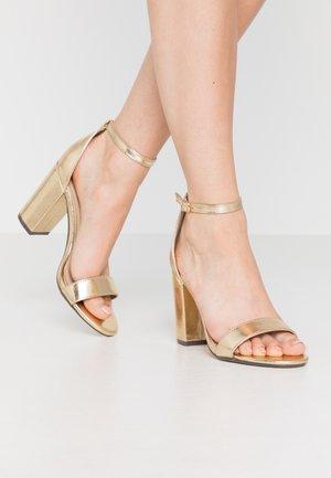 SARAH - Sandalias de tacón - gold