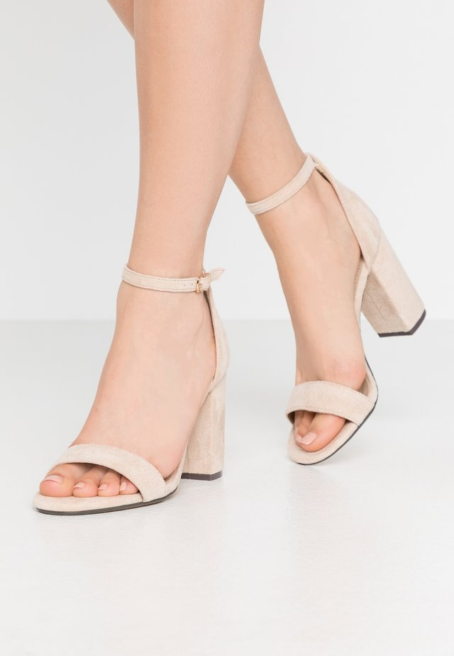 SARAH - High heeled sandals - nude