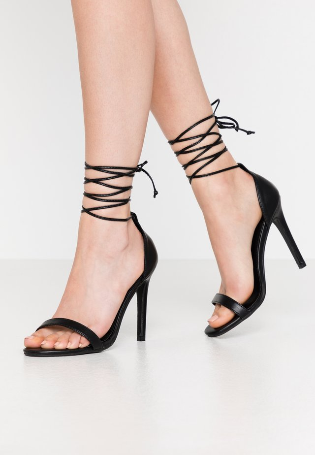 RACHEL - High heeled sandals - black
