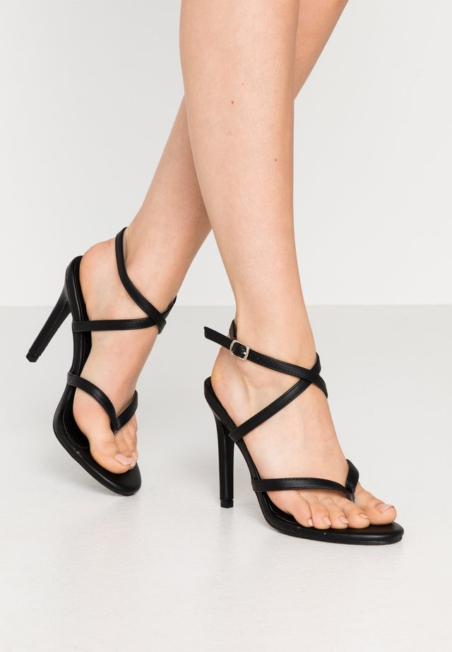 PENNY - High heeled sandals - black