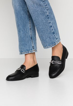SERAFINA - Loaferit/pistokkaat - black