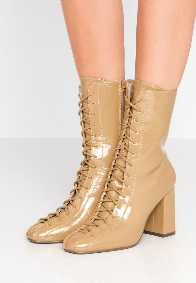 JACOBSON - High heeled ankle boots - nude