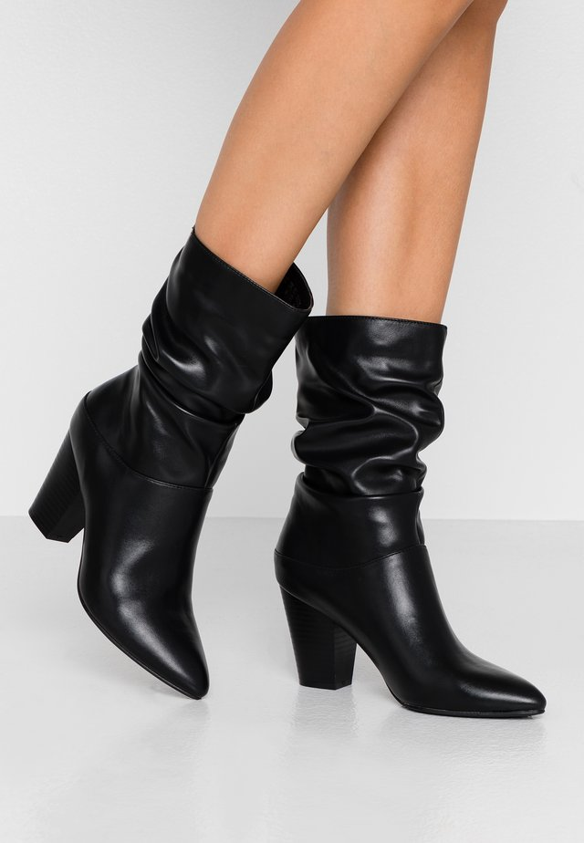 BLANE - High heeled ankle boots - black