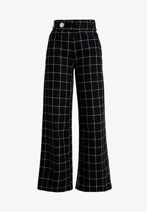KARL TROUSER - Broek - black/white