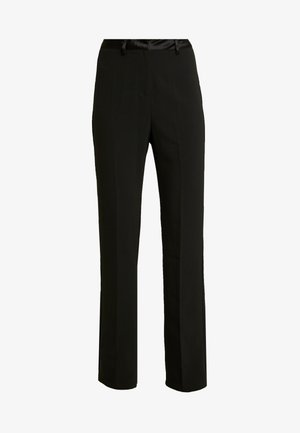 MELODY TROUSER - Pantalones - black structured