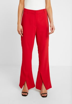 DION TROUSER - Kalhoty - red