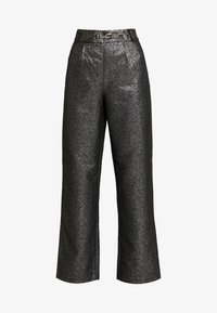 4th & Reckless - WASHINGTON TROUSER - Pantalones - black/silver - 4