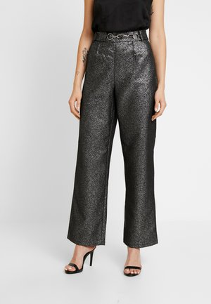 WASHINGTON TROUSER - Pantalon classique - black/silver