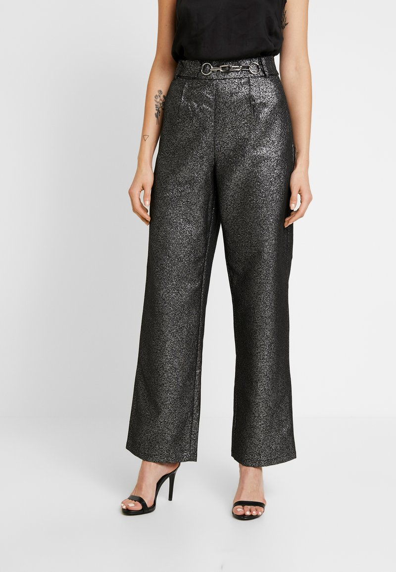 4th & Reckless - WASHINGTON TROUSER - Pantalones - black/silver