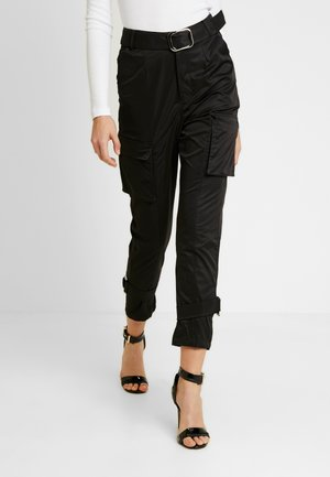 SCRIPT TROUSER - Trousers - black formal
