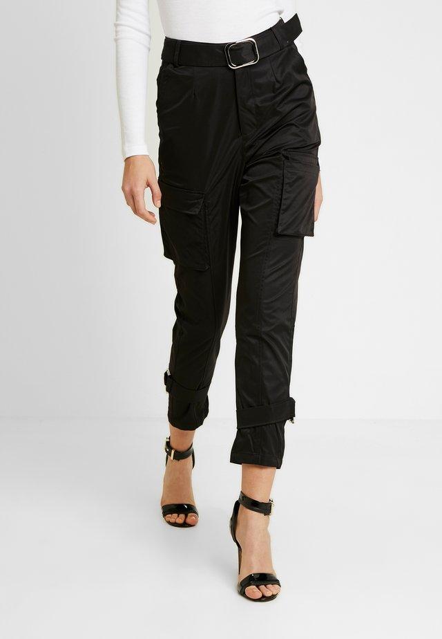 SCRIPT TROUSER - Trousers - black formal