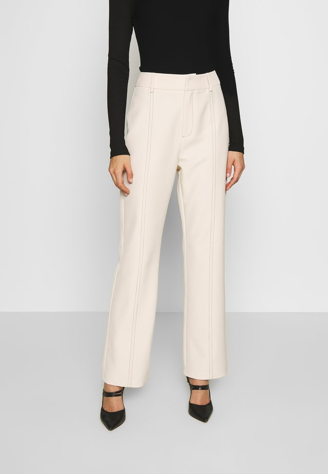 MILO TROUSER - Tygbyxor - cream