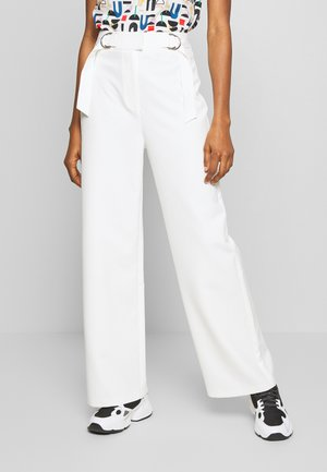 ADDIE TROUSER - Pantalones - white