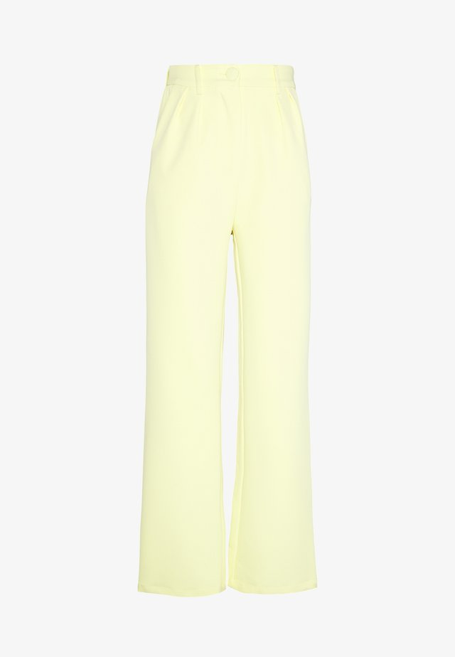 HAILEY TROUSER - Kangashousut - lemon