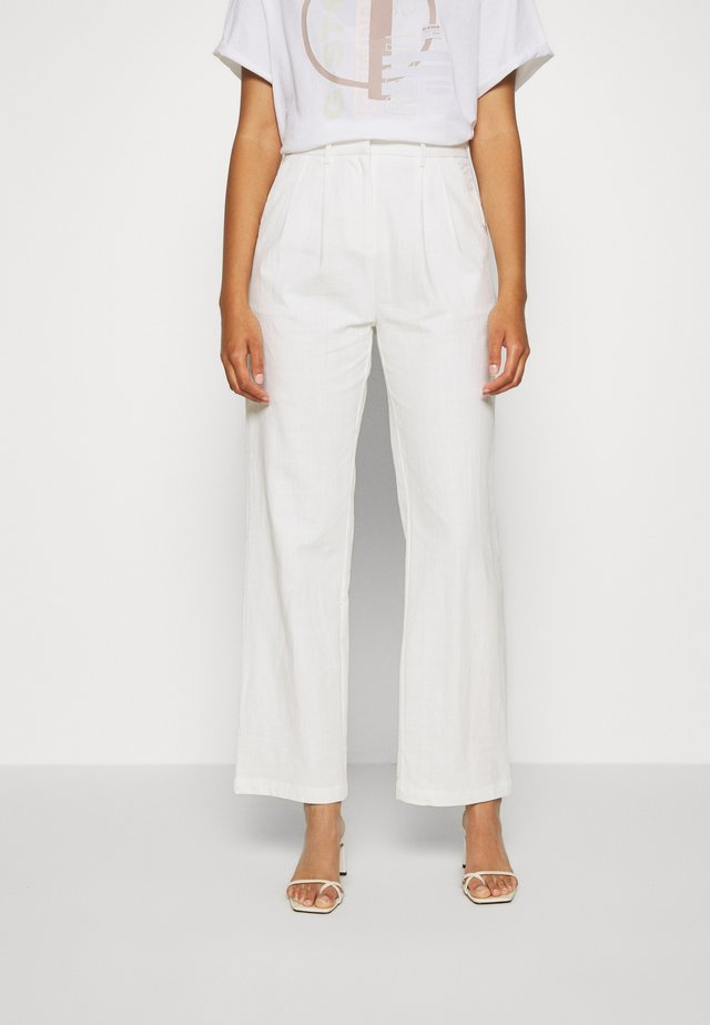 ROSANNA TROUSERS - Trousers - white