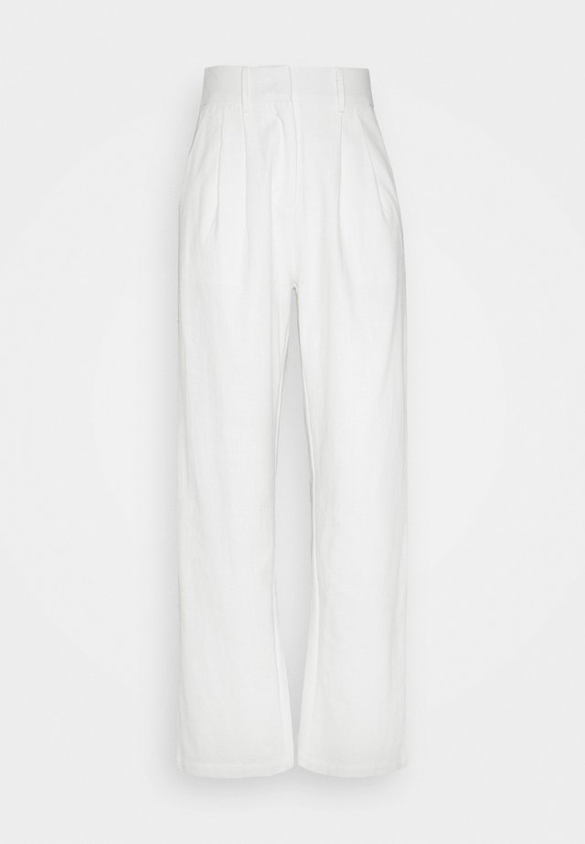 ROSANNA TROUSERS - Tygbyxor - white