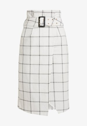 HONEY SKIRT - Pouzdrová sukně - black/white
