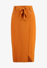 4th & Reckless - ALBABELTED MIDI SKIRT WITH RING DETAIL - Wrap skirt - ginger - 3