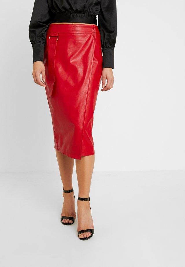 KRISTIE - Wrap skirt - red
