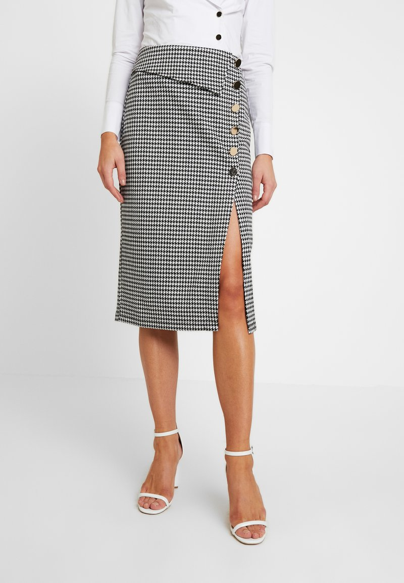 4th & Reckless - CANNON SKIRT - Pencil skirt - houndstooth