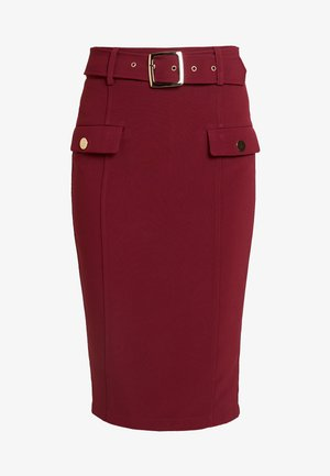 MELANIE - Pencil skirt - wine