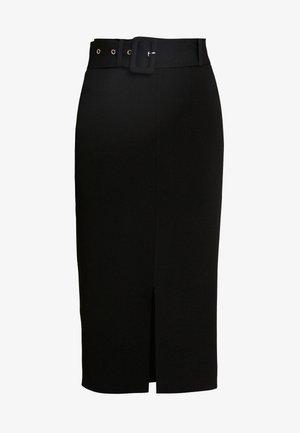 LUNA SKIRT - Pouzdrová sukně - black