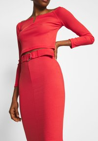 4th & Reckless - NORA SKIRT - Pencil skirt - red - 4