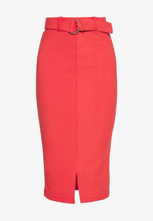 NORA SKIRT - Pencil skirt - red