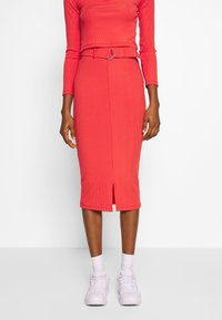 4th & Reckless - NORA SKIRT - Pencil skirt - red - 0