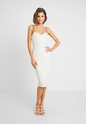 MALONE - Pouzdrové šaty - cream
