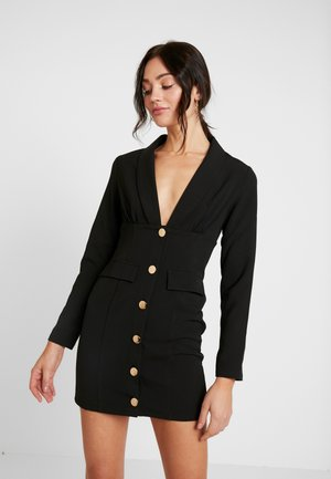 PIMLICO - Vestido camisero - black