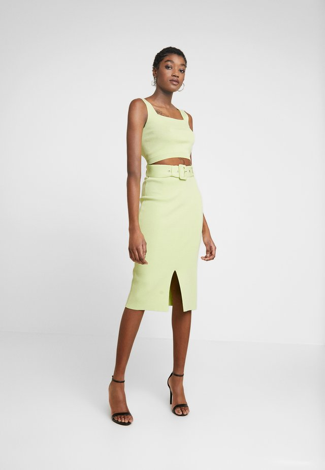 LUNA TOP SKIRT - Korte jurk - lime