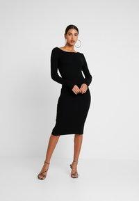 4th & Reckless - LOLA - Pletené šaty - black - 0