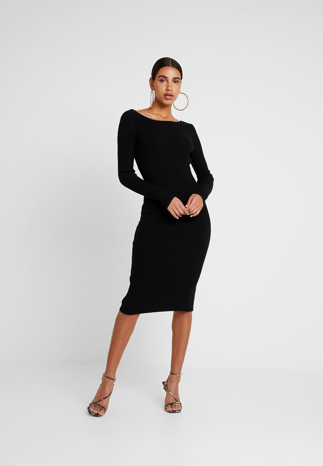 LOLA - Jumper dress - black