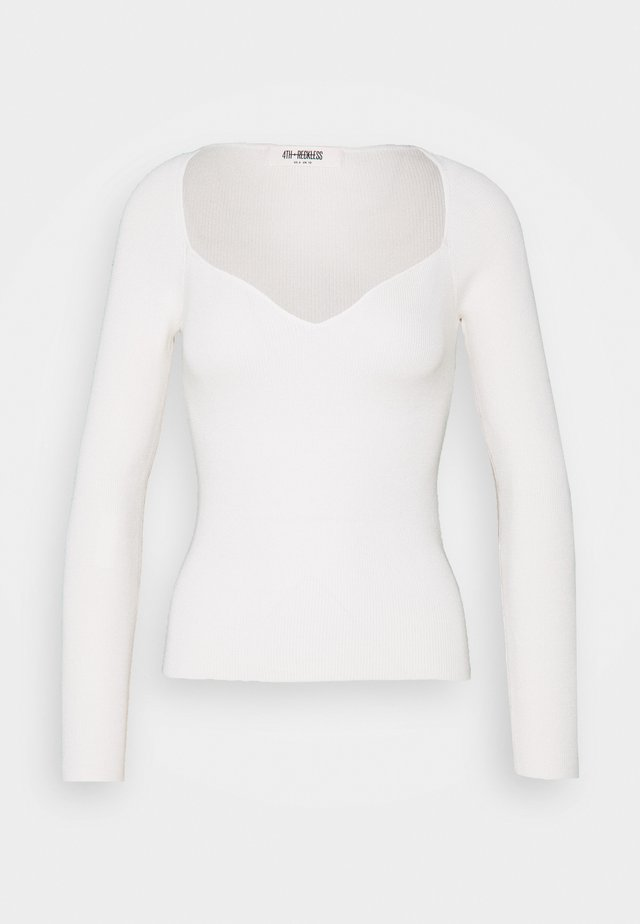 JASPER - Long sleeved top - cream