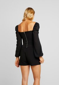 4th & Reckless - KRISTA BARDOT WITH PUFFED SLEEVES - Camicetta - black - 2