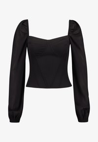 4th & Reckless - KRISTA BARDOT WITH PUFFED SLEEVES - Camicetta - black - 3