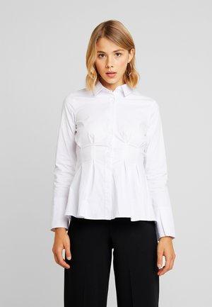 LESTER PLEATED SHIRT - Camicia - white