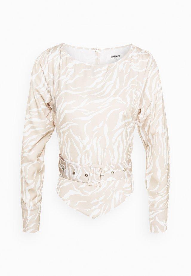 NEPTUNE TOP - Bluse - beige