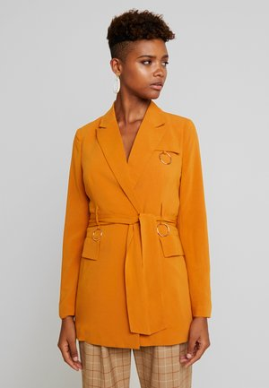 HARRINGTON BELTED WITH RING DETAIL - Abrigo corto - ginger