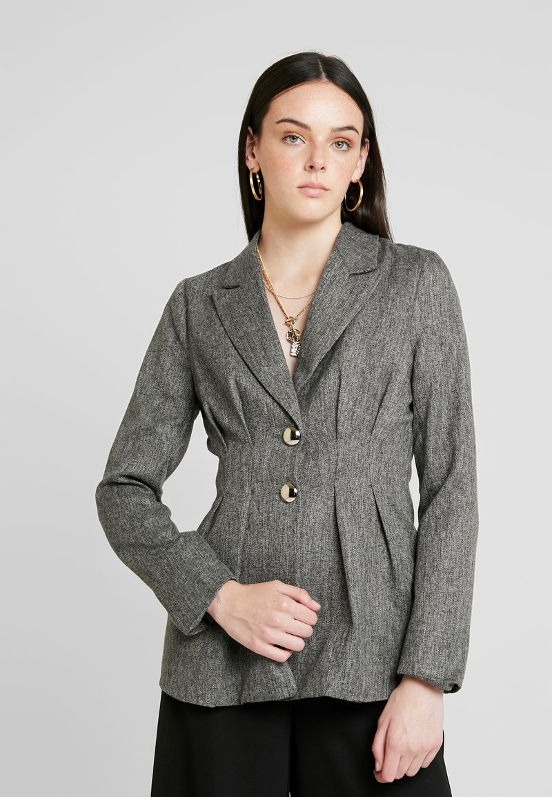 4th & Reckless - WASHINGTON WITH PLEATED DETAIL AND BUTTONS - Blazer - grey