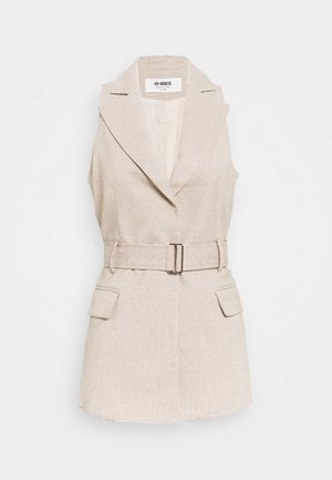 HOLLY JACKET - Chaleco - nude