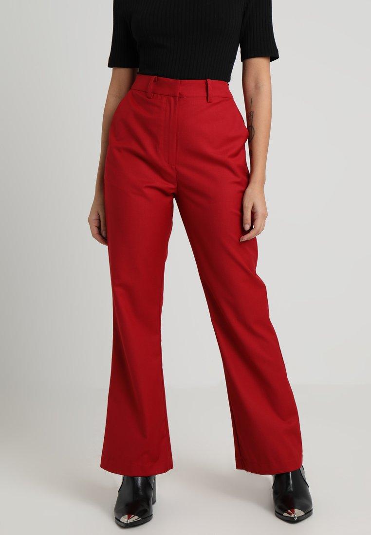 4th & Reckless Petite - SHANGHAI TROUSER - Pantalon classique - red