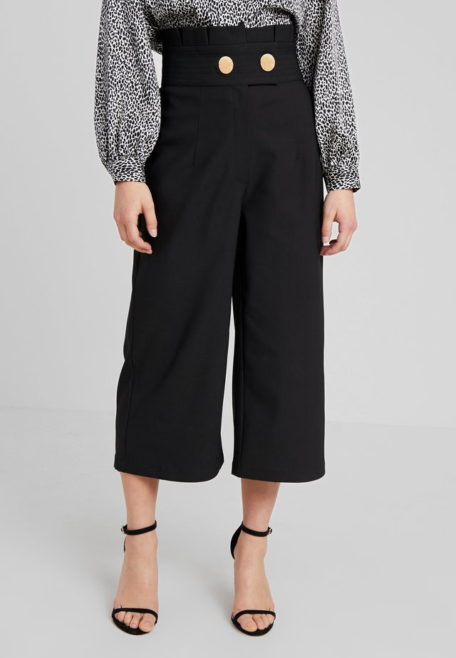PENNY CULOTTE - Trousers - black