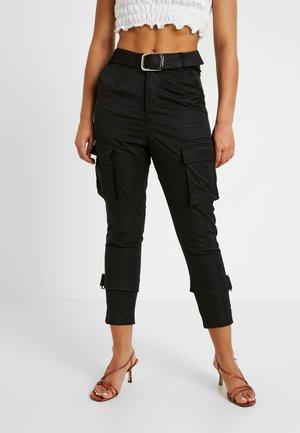 SCRIPT TROUSER - Trousers - black